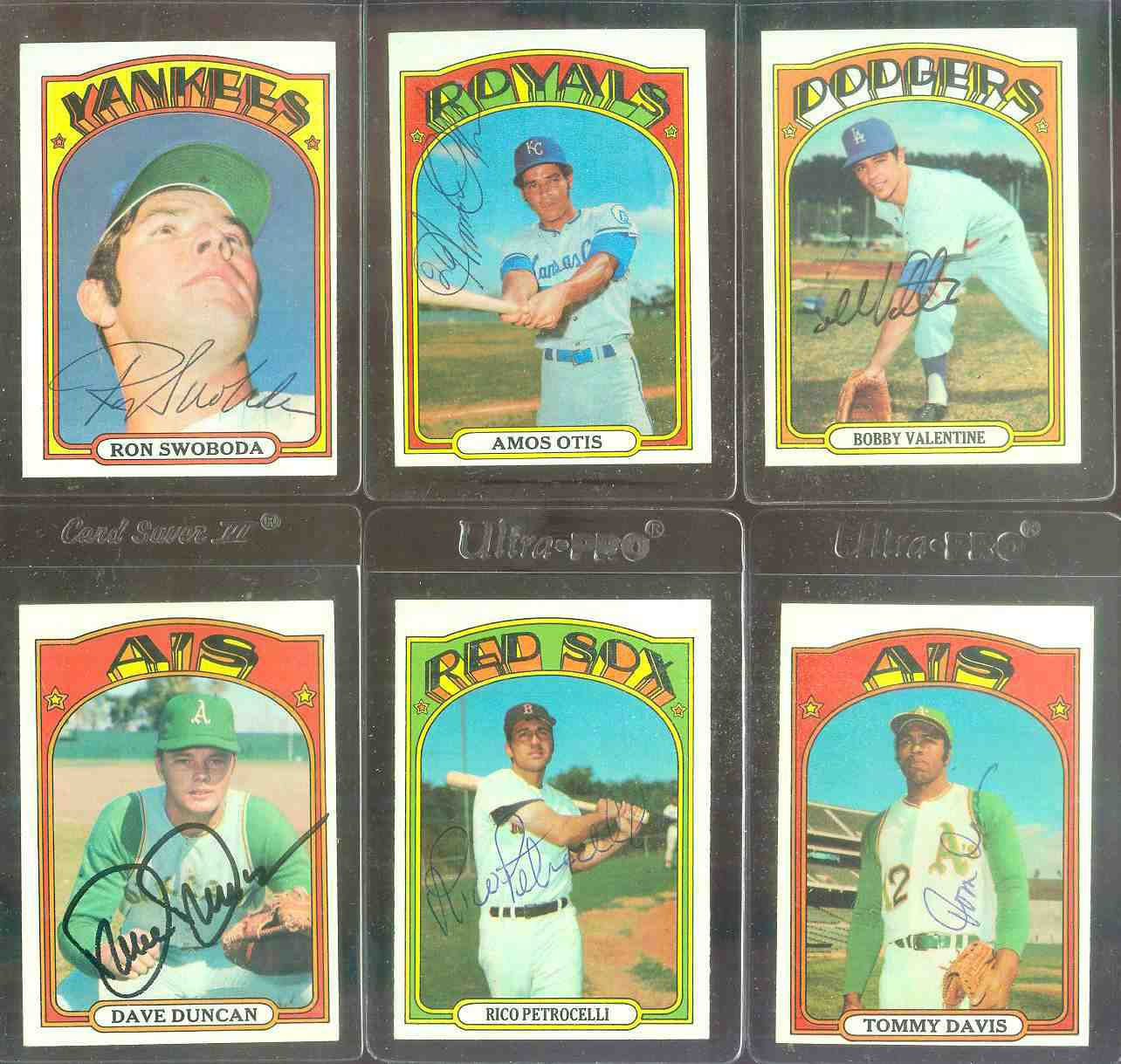 AUTOGRAPHED: 1972 Topps #.10 Amos Otis w/PSA/DNA Auction LOA (Royals) Baseball cards value