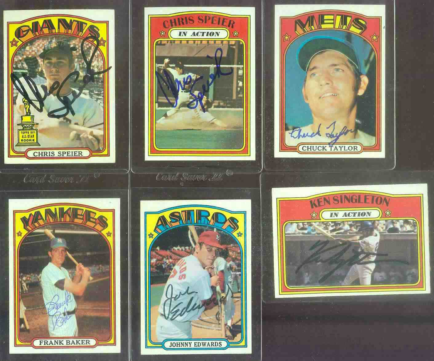 AUTOGRAPHED: 1972 Topps #416 Johnny Edwards w/PSA/DNA Auction LOA (Astros) Baseball cards value