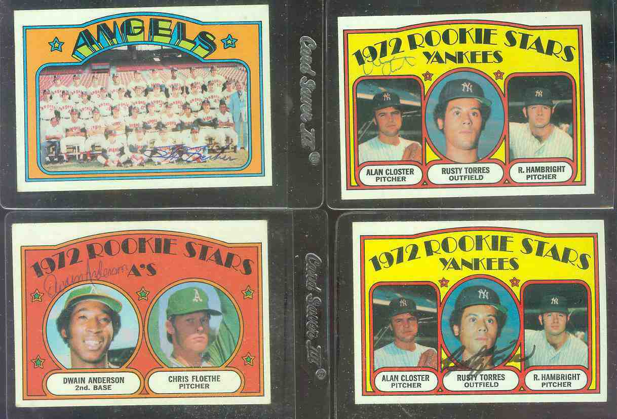 AUTOGRAPHED: 1972 Topps #124 Yankees ROOKIE Stars [Alan Closter auto.] Baseball cards value