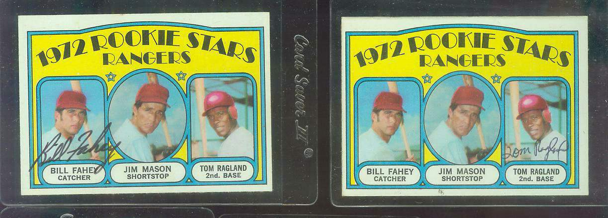 AUTOGRAPHED: 1972 Topps #334 Rangers ROOKIE Stars [Tom Ragland auto.] Baseball cards value