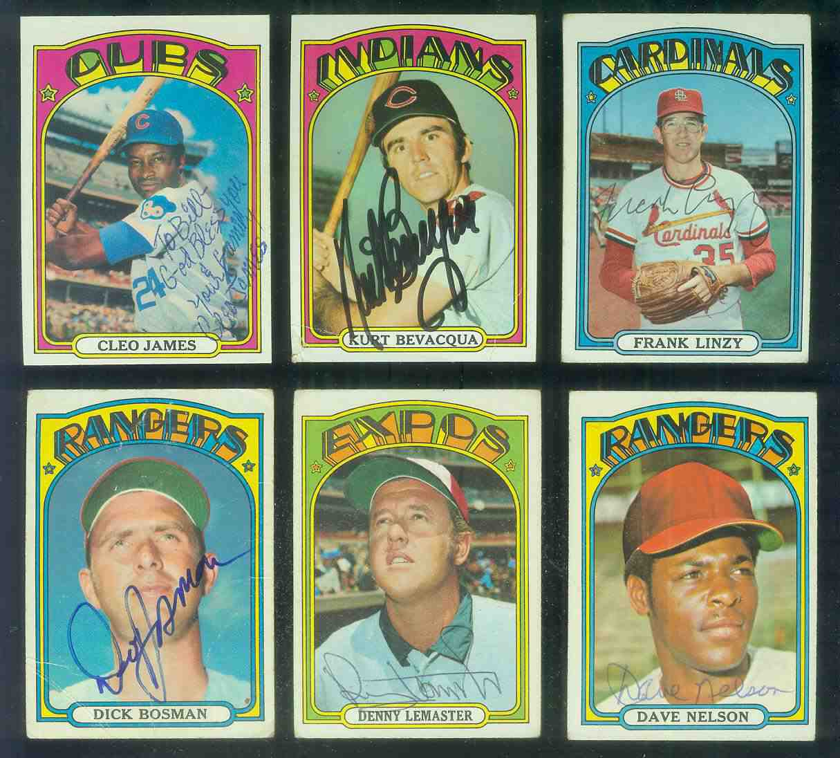 AUTOGRAPHED: 1972 Topps #243 Frank Linzy w/PSA/DNA Auction LOA (Cardinals) Baseball cards value