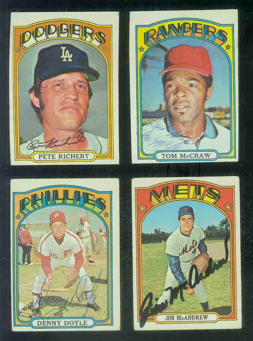 AUTOGRAPHED: 1972 Topps #649 Pete Richert w/PSA/DNA Auction LOA (Dodgers) Baseball cards value