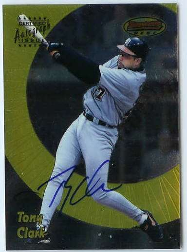 Tony Clark - 1998 Bowman's Best AUTOGRAPH (Tigers) Baseball cards value
