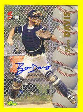 Ben Davis - 1995 Classic 5-Sport AUTOGRAPH (Padres) Baseball cards value