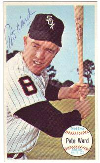 Pete Ward - AUTOGRAPHED 1964 Topps Giants (White Sox) Baseball cards value