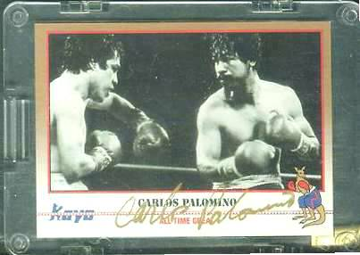 Carlos Palomino (Mexico) - AUTOGRAPHED 1991 KAYO BOXING Baseball cards value