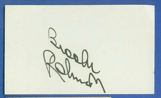 Brooks Robinson - AUTOGRAPHED Index Card {BLACK Autograph} Baseball cards value