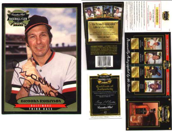 Brooks Robinson - 1996 Canadian Club AUTOGRAPH (Orioles) Baseball cards value