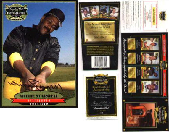 Willie Stargell - 1996 Canadian Club AUTOGRAPH (Pirates Hall-of-Famer) Baseball cards value