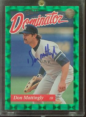 Don Mattingly - 1993 Donruss Elite Dominator AUTOGRAPHED (Yankees) Baseball cards value