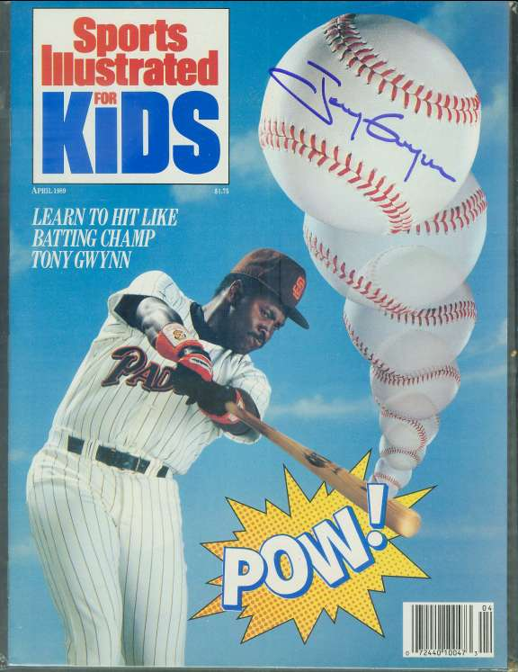 Tony Gwynn - Autographed 'Sports Illustrated for Kids' Baseball cards value