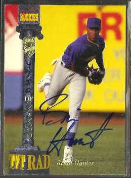 Brian Hunter - 1994 Signature Rookies 'Tetrad' AUTOGRAPH Baseball cards value