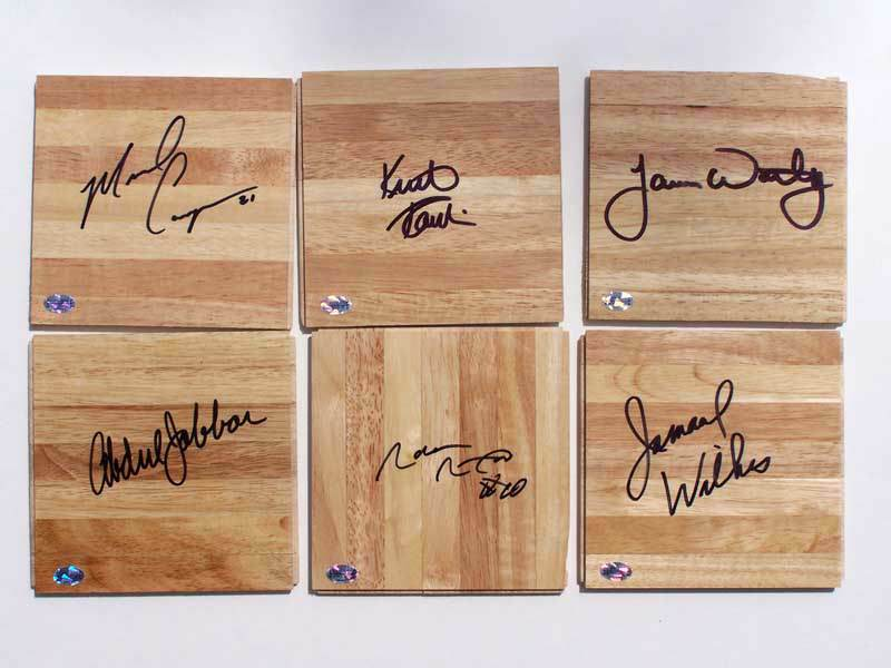 James Worthy - AUTOGRAPHED L.A. Lakers GAME-USED FLOOR Basketball cards value