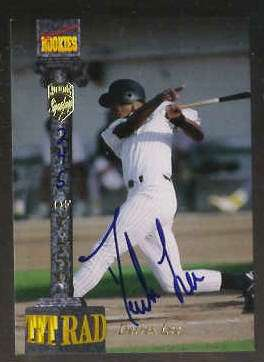 Derrek Lee - 1994 Signature Rookies 'Tetrad' AUTOGRAPH (Padres) Baseball cards value