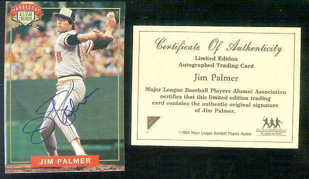 Jim Palmer - 1994 Nabisco All-Star Legends AUTOGRAPH (Orioles) Baseball cards value