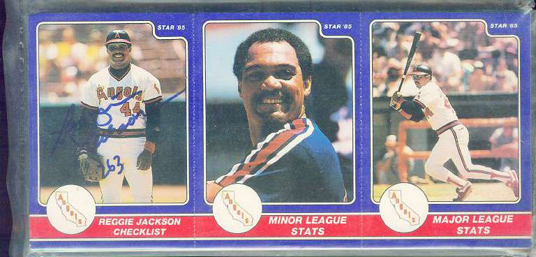 Reggie Jackson - 1985 Star Company AUTOGRAPHED Complete 36-card Set (A's) Baseball cards value