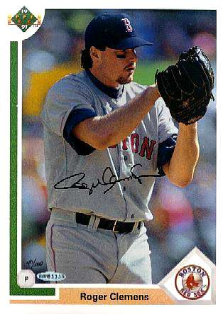 Roger Clemens - UDA AUTOGRAPHED - 1991 Upper Deck 8-1/2 x 11 inch Blow-Up Baseball cards value