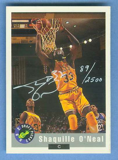 SHAQUILLE O'NEAL - 1992 Classics Draft Picks Promo AUTOGRAPH Basketball cards value