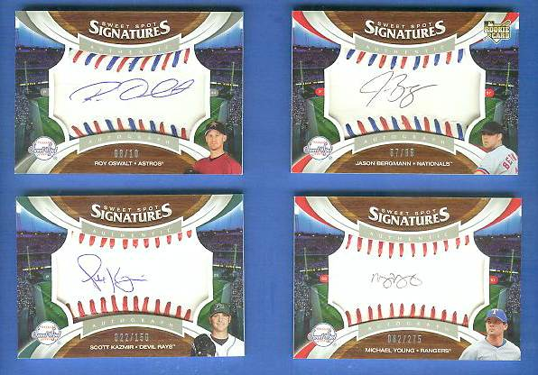 Scott Kazmir - 2006 UD Sweet Spot 'SIGNATURES' AUTOGRAPHED BASEBALL Baseball cards value