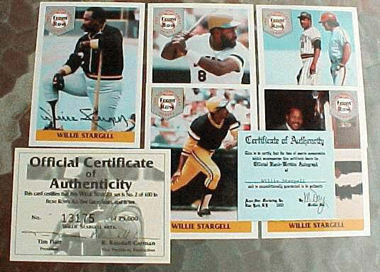 Willie Stargell - 1992 Front Row AUTOGRAPHED 5-card set (Pirates) Baseball cards value