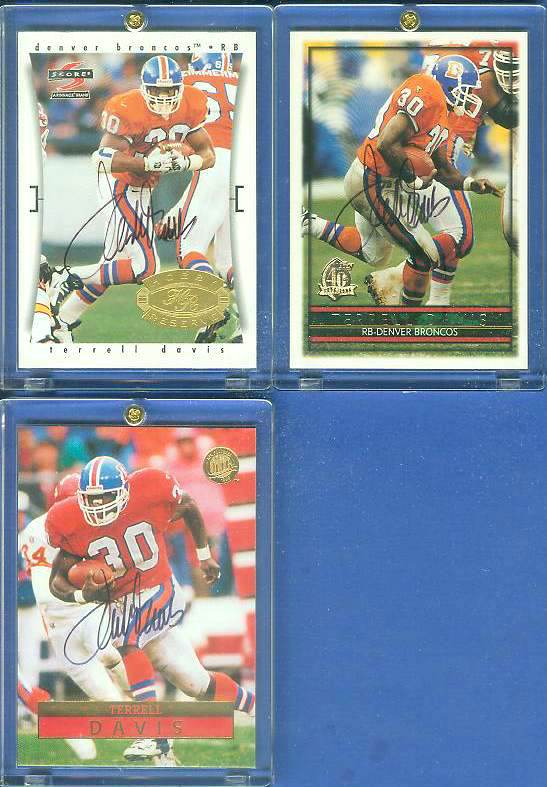 Terrell Davis - AUTOGRAPHED 1996 Ultra Football cards value