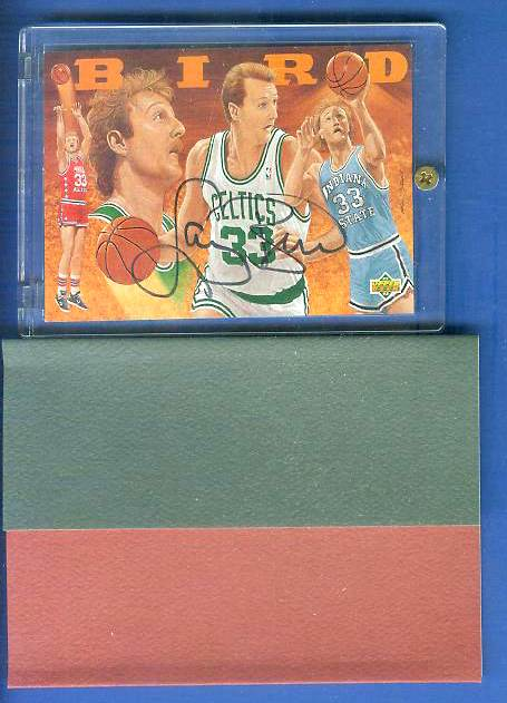 Larry Bird - UDA AUTOGRAPHED - 1993 Upper Deck Heroes Basketball cards value