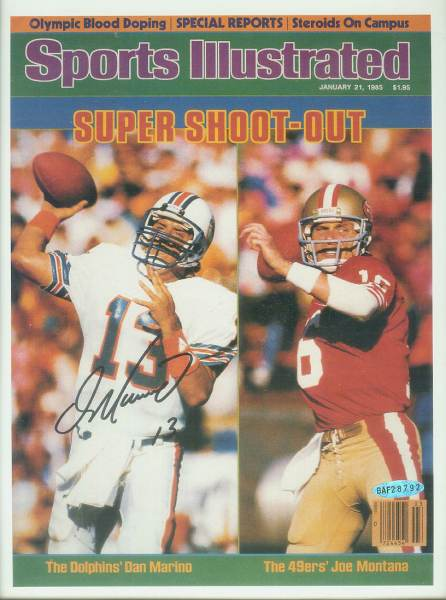 Dan Marino - UDA AUTOGRAPHED - 'Marino/Montana' Sports Illustrated Cover Football cards value