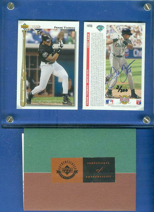 Frank Thomas - UDA AUTOGRAPHED - 1992 Upper Deck HOMERUN HEROES 2-card set Baseball cards value