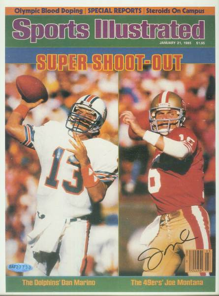 Joe Montana - UDA AUTOGRAPHED - 'Marino/Montana' Sports Illustrated Cover Football cards value