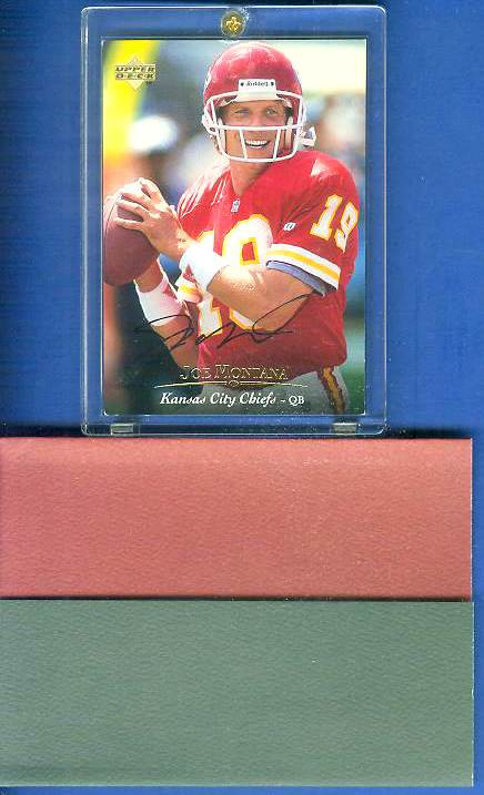 Joe Montana - UDA AUTOGRAPHED - 1995 Upper Deck #19 (49ers) Football cards value
