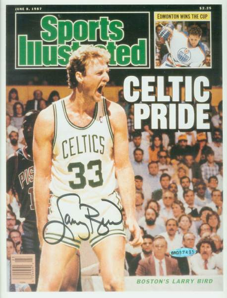 Larry Bird - UDA AUTOGRAPHED - 'Celtic Pride' Sports Illustrated Cover Basketball cards value