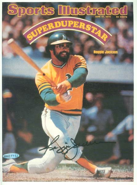 Reggie Jackson - UDA AUTOGRAPHED - SuperDuperStar Sports Illustrated Cover Baseball cards value