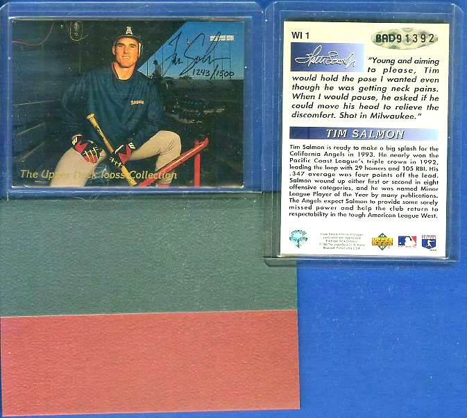 Tim Salmon - UDA AUTOGRAPHED - 1993 Upper Deck SP (Angels) Baseball cards value