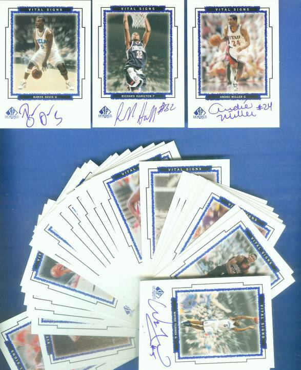 1999-00 SP Top Prospects 'VITAL SIGNS' - NEAR COMPLETE  AUTOGRAPHED Insert Basketball cards value