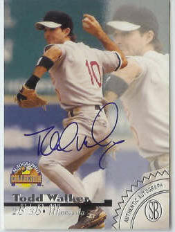 Todd Walker - 1996 Scoreboard 'Autographed Collection' AUTOGRAPH Baseball cards value