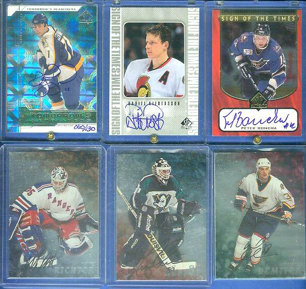 David Legwand - 2000-01 SP Authentic BUYBACKS AUTOGRAPH #B-DL Hockey cards value