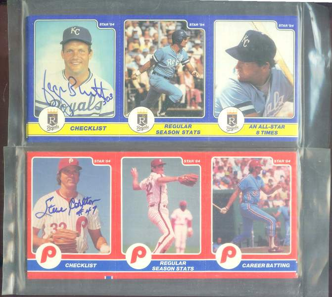 George Brett - 1984 Star Company AUTOGRAPHED card + Complete 24-card set Baseball cards value