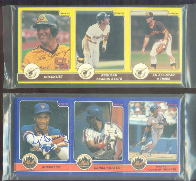 Darryl Strawberry - 1984 Star Company AUTOGRAPHED Complete 36-card set Baseball cards value