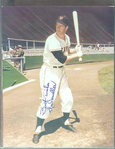Don Mueller - Autographed COLOR 8x10 (w/LOA) (Giants) Baseball cards value