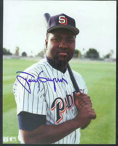 Tony Gwynn - Autographed 8x10 Color Glossy [#c] Baseball cards value