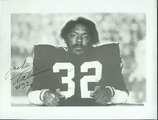 Jack Tatum - Autographed B&W (horz) 8-1/2x11 (Raiders) Football cards value