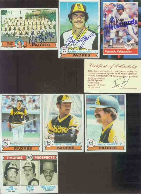 1979 Topps #506 John 'The Count' D'Acquisto  AUTOGRAPHED (Padres) Baseball cards value