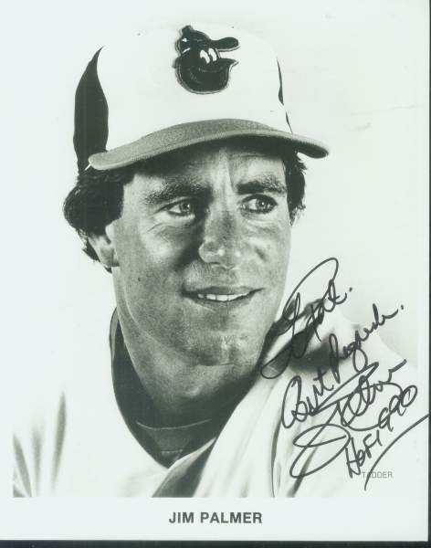 Jim Palmer - Autographed B&W 8x10 (Orioles) Baseball cards value
