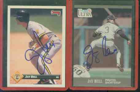 1991 Ultra + 1993 Donruss Jay Bell - Lot of (2) AUTOGRAPHED cards (Pirates) Baseball cards value
