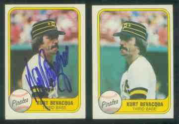 1981 Fleer AUTOGRAPHED #382 Kurt Bevacqua ERROR + Corrected (Pirates) Baseball cards value