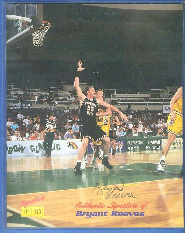 Bryant Reeves - Signature ROOKIES Autographed 8x10 Basketball cards value