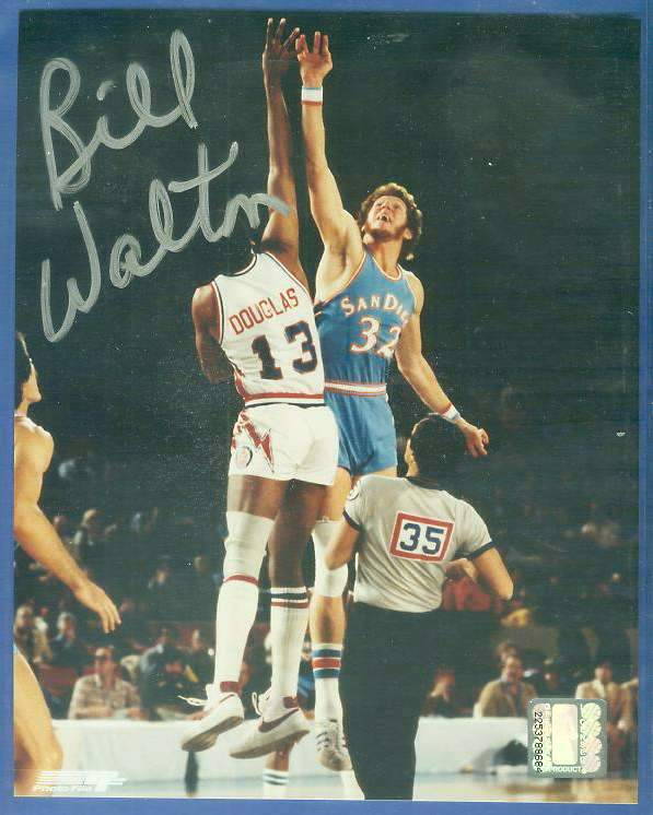 Bill Walton - Autographed 8x10 (signed in Silver) Basketball cards value