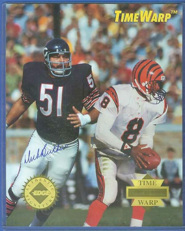 Dick Butkus - AUTOGRAPHED LIMITED EDITION 8x10 1995 TIME WARP Football cards value