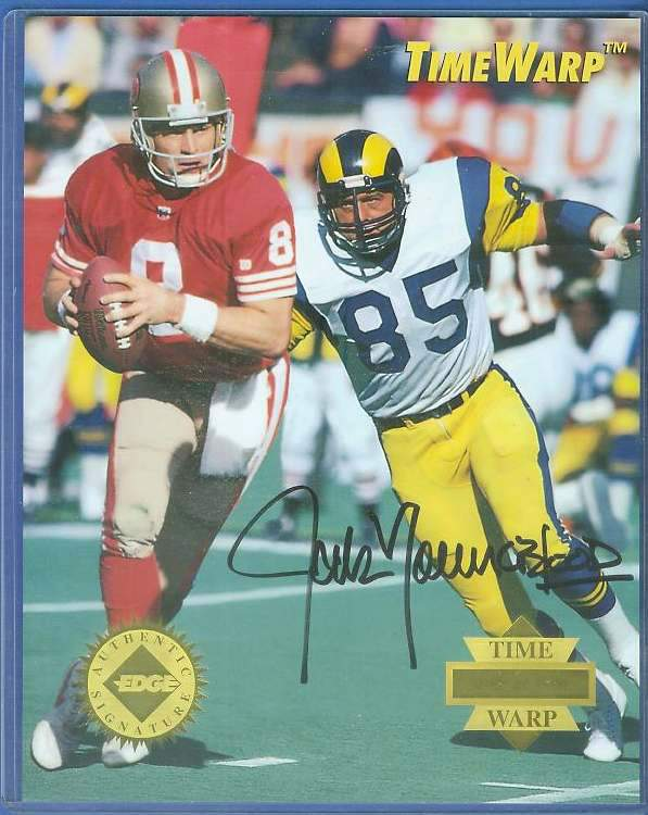 Jack Youngblood - AUTOGRAPHED LIMITED EDITION 8x10 1995 TIME WARP Football cards value