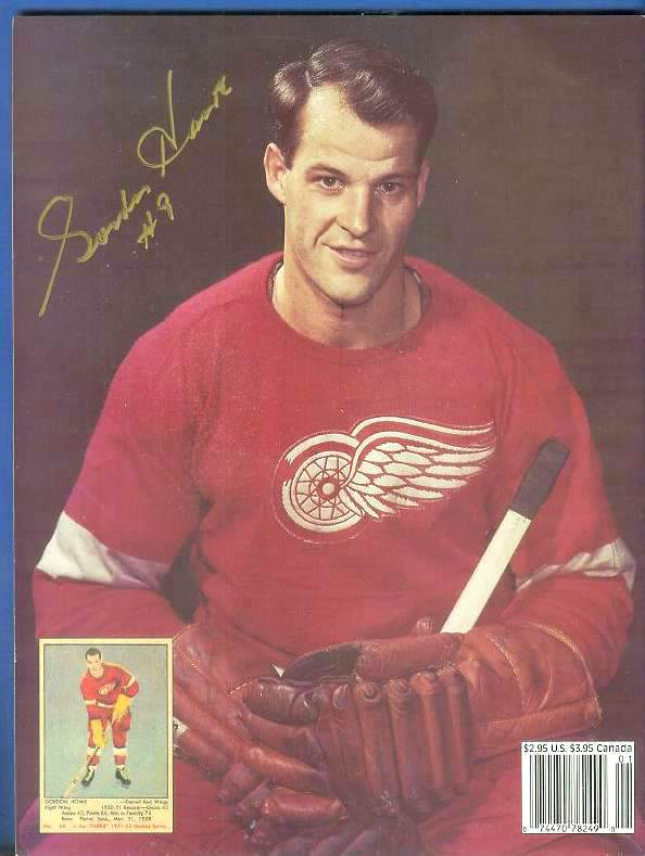 Gordie Howe - Autographed 1994 Beckett Hockey Monthly Hockey cards value